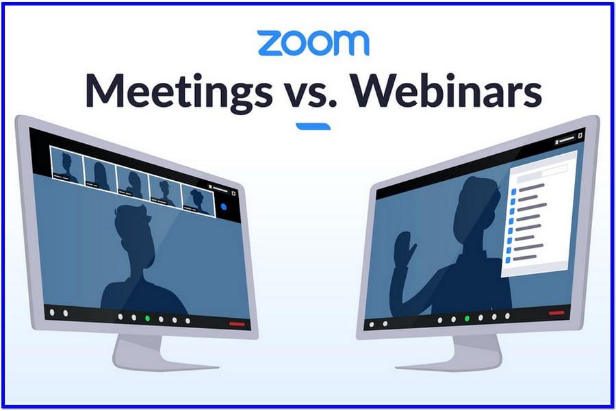 Zoom Webinar vs Zoom Meeting
