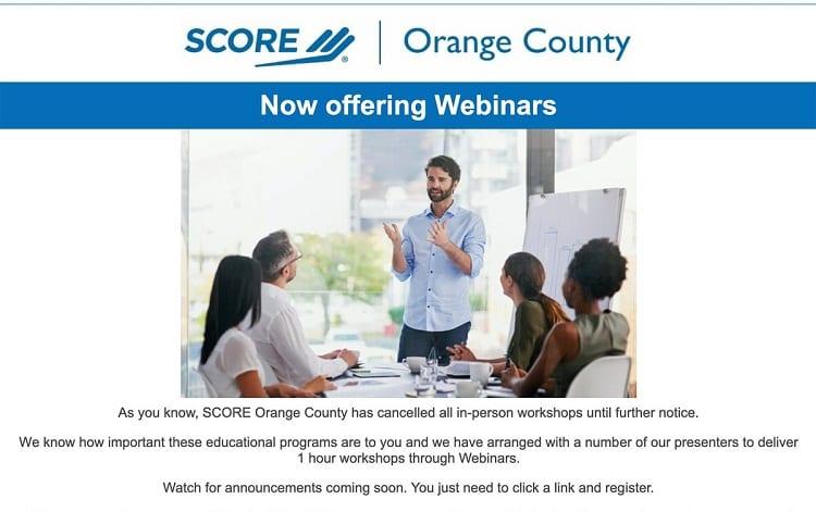 webinars on score.org
